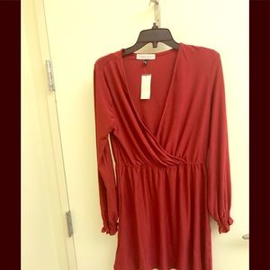 Planet Gold Bodycon Red Dress